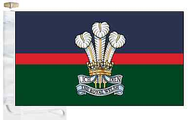 Army Boat Toggled amp; British Welsh Roped Regiment Flag Royal Courtesy USXdnnpTqw