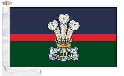 Regiment Flag Boat Royal British Army Welsh amp; Toggled Courtesy Roped XXYt4q