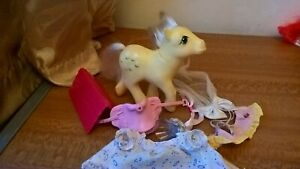 My-Little-Pony-G1-Posey-Tulips-Vintage-Toy-Hasbro-1984-With-a-few-accessories