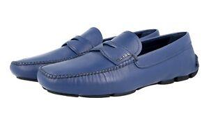 45 Luxus Neu 5 45 Penny Blau Prada 2dd001 Saffiano Loafer Schuhe 11 New aRxarwPq