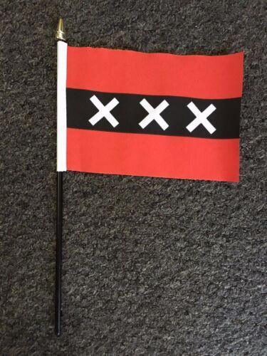 Dutch hand table flag Holland Netherlands Amsterdam Rotterdam den Haag Sports bn