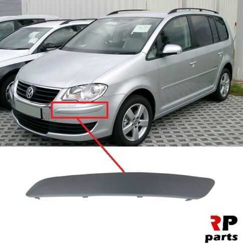 Per VW Touran 2007-2010 NUOVO PARAURTI ANTERIORE SINISTRA Trim Stampaggio ideale N//S