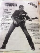 GEORGE MICHAEL - FAITH TOUR 1988 - copy of magazine advert / small poster - WHAM