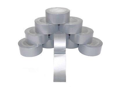 6 Rollen 48 mm x 50 m Panzertape Gewebeband  Klebeband Steinband Tape Grau