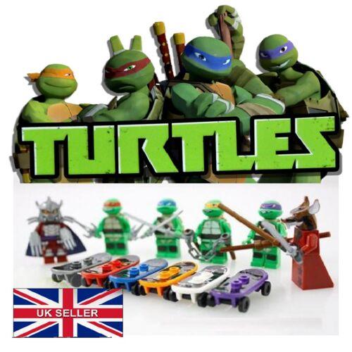 Custom 6Pcs TEENAGE MUTANT NINJA TURTLE TMNT 6pcs lego Figurine Jouets Set UK