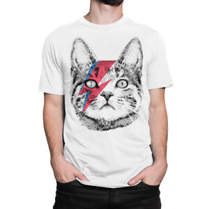 Ziggy-Stardust-Cat-T-shirt-David-Bowie-Men-039-s-Women-039-s-Tee-All-Sizes