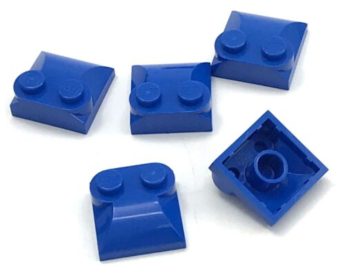 Lego 5 New Blue Bricks Modified 2 x 2 x 2//3 Two Studs Curved Slope End Parts