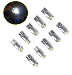 10-PCS-T10-12V-Auto-LED-Xenon-Licht-Glassockel-Innenraum-Standlicht-Weis-Lampe