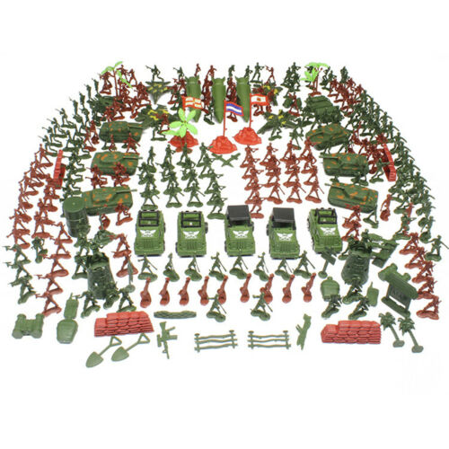 307//100Pc Action Figures Military Boy Army Men Soldier Sand Scene Model #HN