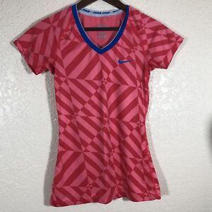 a9f529e77c2 Nike Pro Dri-Fit V-Neck Training Running Shirt Womens Size Small ...