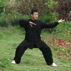 Kung-Fu-Anzug-Leistungskostuem-Unisex-Tai-Chi-Kampfkunst-Uniform-Kleider-Hemd