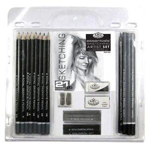 21-Piece-Sketch-Drawing-Pencil-Set-Sketching-Art-Royal-Langnickel-Art-Supplies