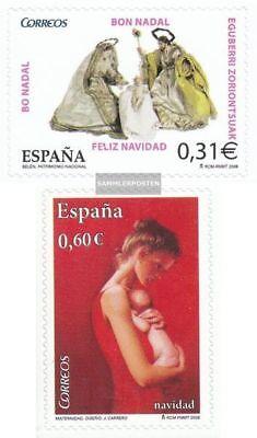kompl.ausg. 100% Wahr Spanien 4369-4370 Gestempelt 2008 Weihnachten