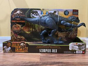JURASSIC WORLD Camp Cretaceous Dino Escape Slash 'N Battle Scorpios Rex Mattel