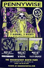 """PENNYWISE /GOOD RIDDANCE """"3 ALBUMS, 3 NIGHTS"""" 2016 SAN DIEGO CONCERT TOUR POSTER"""