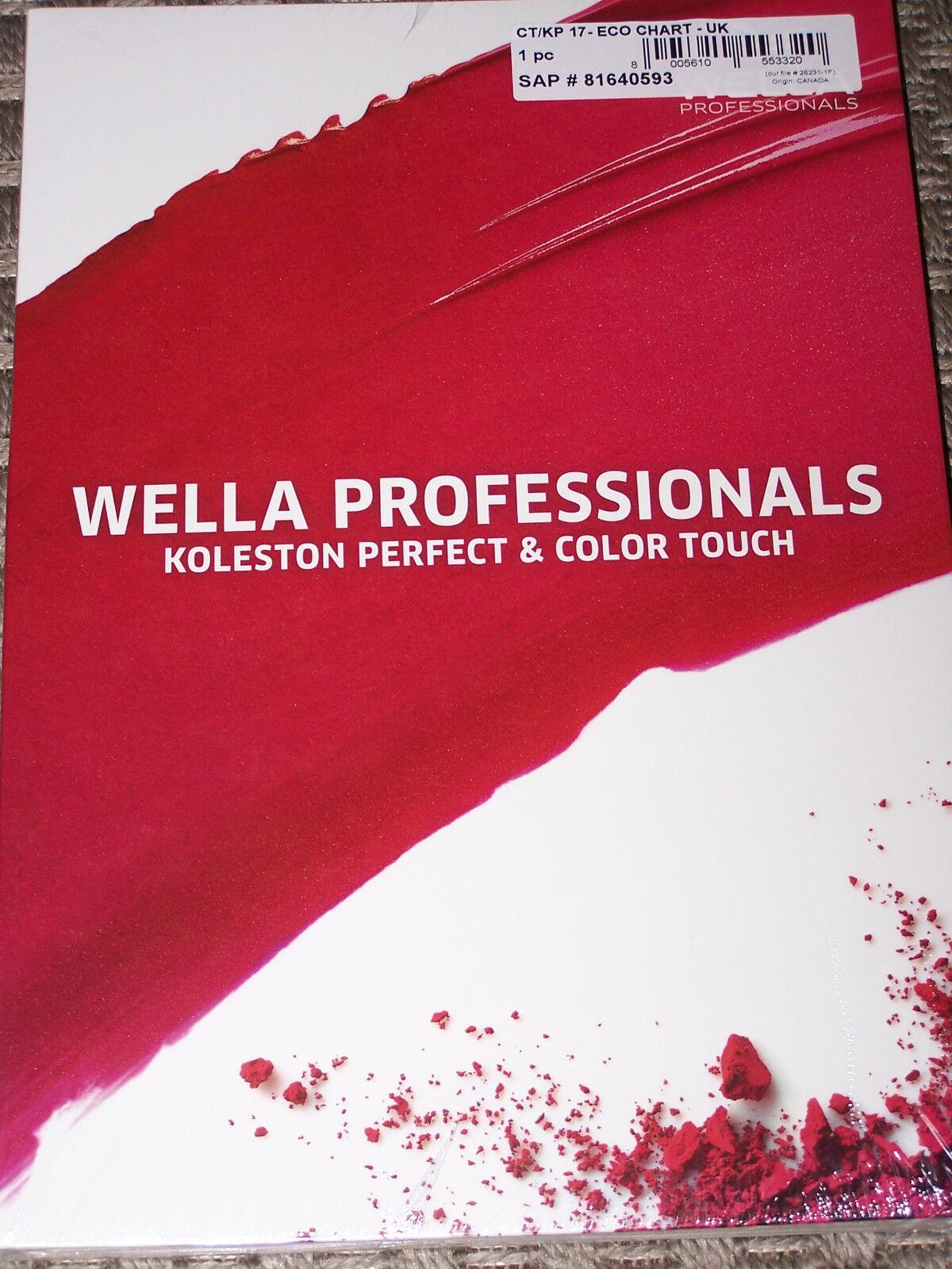 Wella Koleston And Colortouch Combo Chart 2017 2018 Ebay