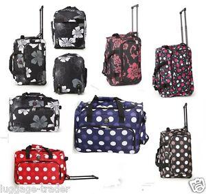 ryanair kabine reisetasche wagen handgep ck mit rollen koffer tasche leicht uk ebay. Black Bedroom Furniture Sets. Home Design Ideas