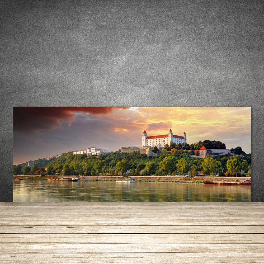 Crédence de cuisine en verre Panneau 125x50 Paysage Lac Ville