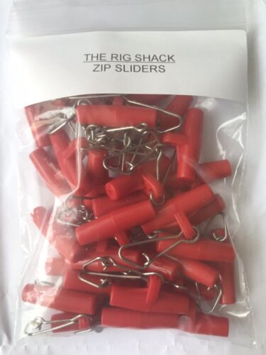 10x TOP QUALITY ZIP SLIDERS FROM THE RIG SHACK Best On SEA FISHING