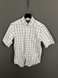 GANT-OXFORD-Short-Sleeve-Shirt-Size-Small-Check-Great-Condition-Men-s