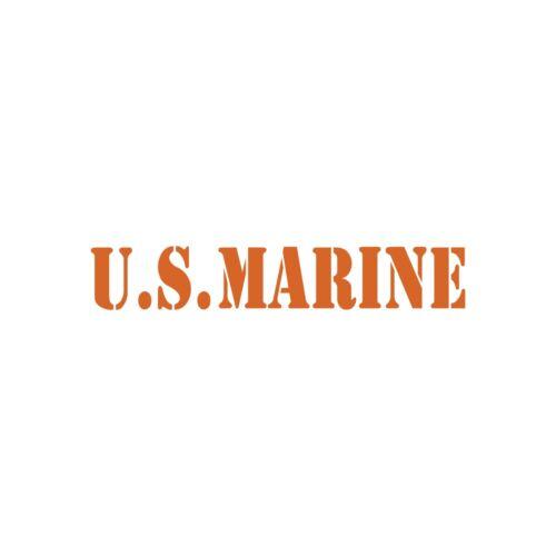 "Car Truck Door Bumper /""US Marine/"" Military Patriotic Vinyl Decal Sticker"