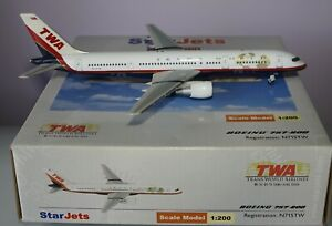 Starjets-DJTWA021-Boeing-757-231-TWA-Trans-World-Airlines-N715TW-in-1-200-Scale