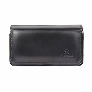 Black-Leather-Side-Case-Side-Cover-Pouch-Swivel-Belt-Clip-Loops-for-Cell-Phones