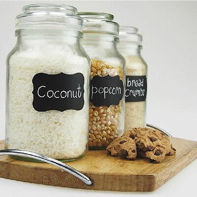 40PCS New Home Kitchen Wedding Jars Blackboard Stickers Chalkboard Lables Gift