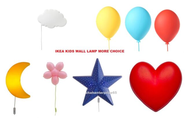 Ikea Smila Range Kids Childrens Wall Nightlight Soft Mood Lamp Light New