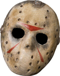 Friday The 13th Jason Voorhees Deluxe Adult Halloween Face ...