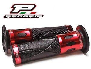 Progrip-Mangos-Manillar-ROJO-Aluminio-Suzuki-SFV-650-Gladius-SFV650-650