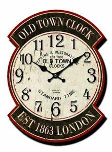 Orologio-in-legno-da-parete-ovale-London-vintage-inglese-stazione