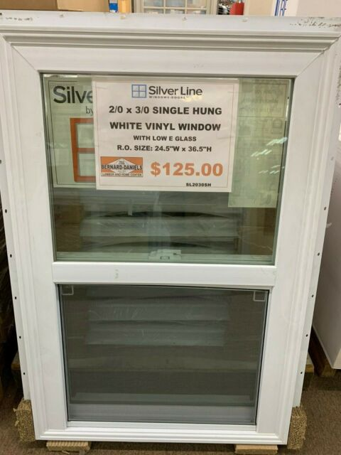 Andersen Silver Line White Single Hung Vinyl Window New