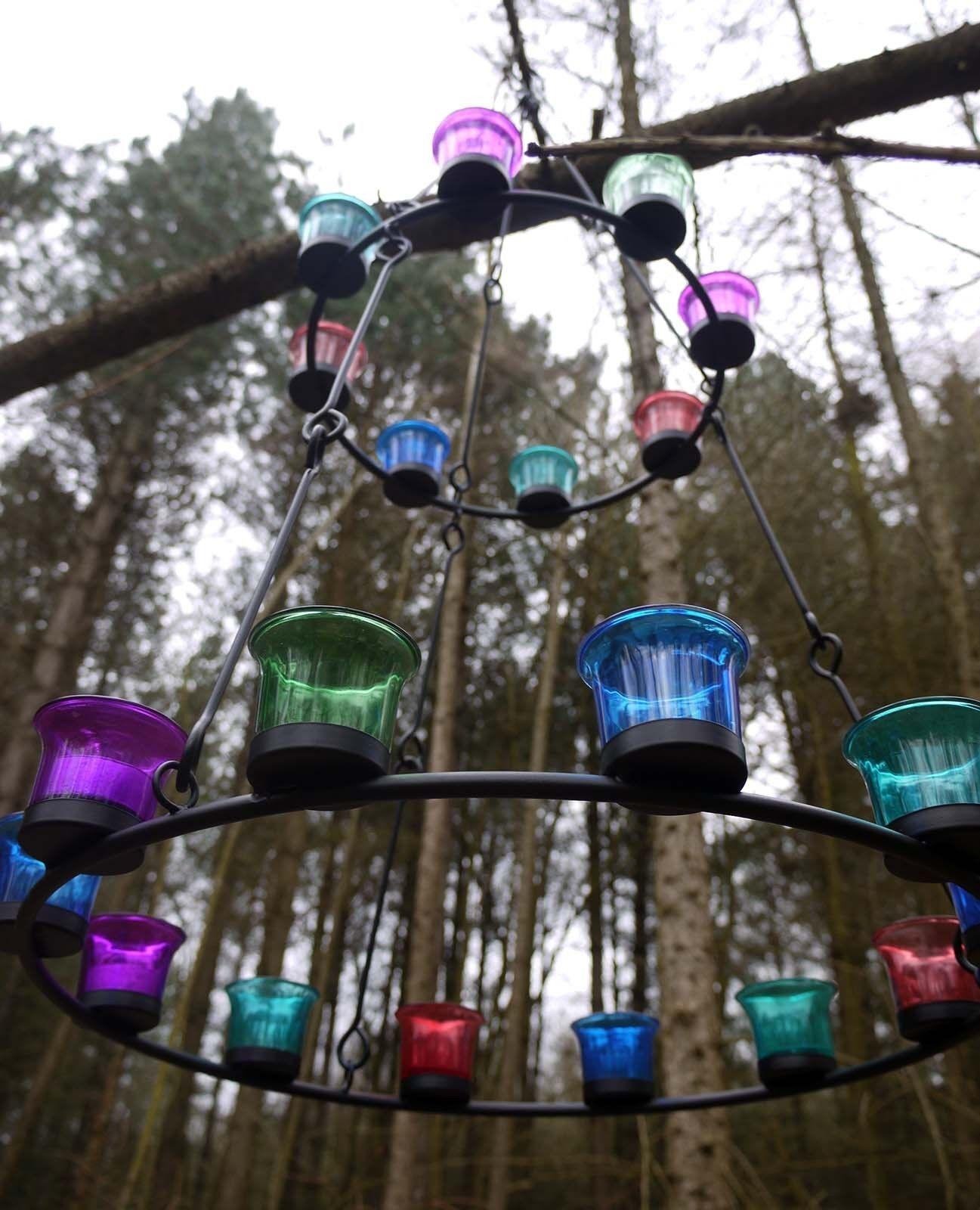 Dekorativer Teelichthalter/ Teelicht Kronleuchter / Hängeleuchter