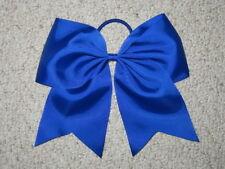 "NEW ""ROYAL BLUE"" Cheer Bow Pony Tail 3 Inch Ribbon Girls Hair Bows Cheerleading"