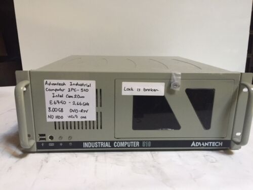 Advantech IPC-510 Industrial Computer Core 2 Duo E6750 2.66Ghz 8GB NO HDD NO OS