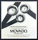 1991 Movado Sterling Silver Dot Watch in 3 Sizes photo vintage print ad