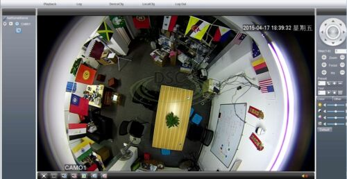 Outdoor 1440P 4.0 Megapixel Panorama View 180//360 Degree Panoramic PoE IP Camera
