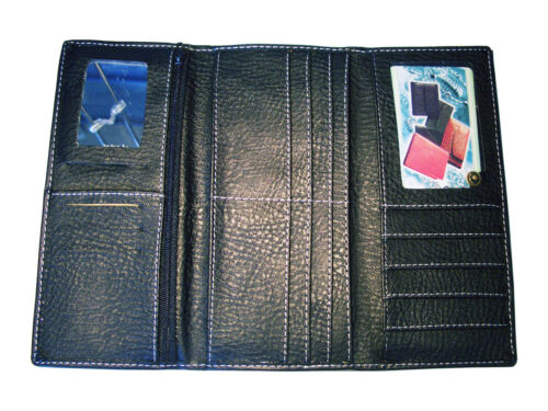 Black Lady/'s Clutch Wallet Tri-Fold