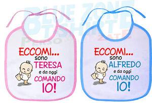Bavaglino-Personalizzato-con-Nome-Neonato-Neonata-Divertente-Eccomi-sono
