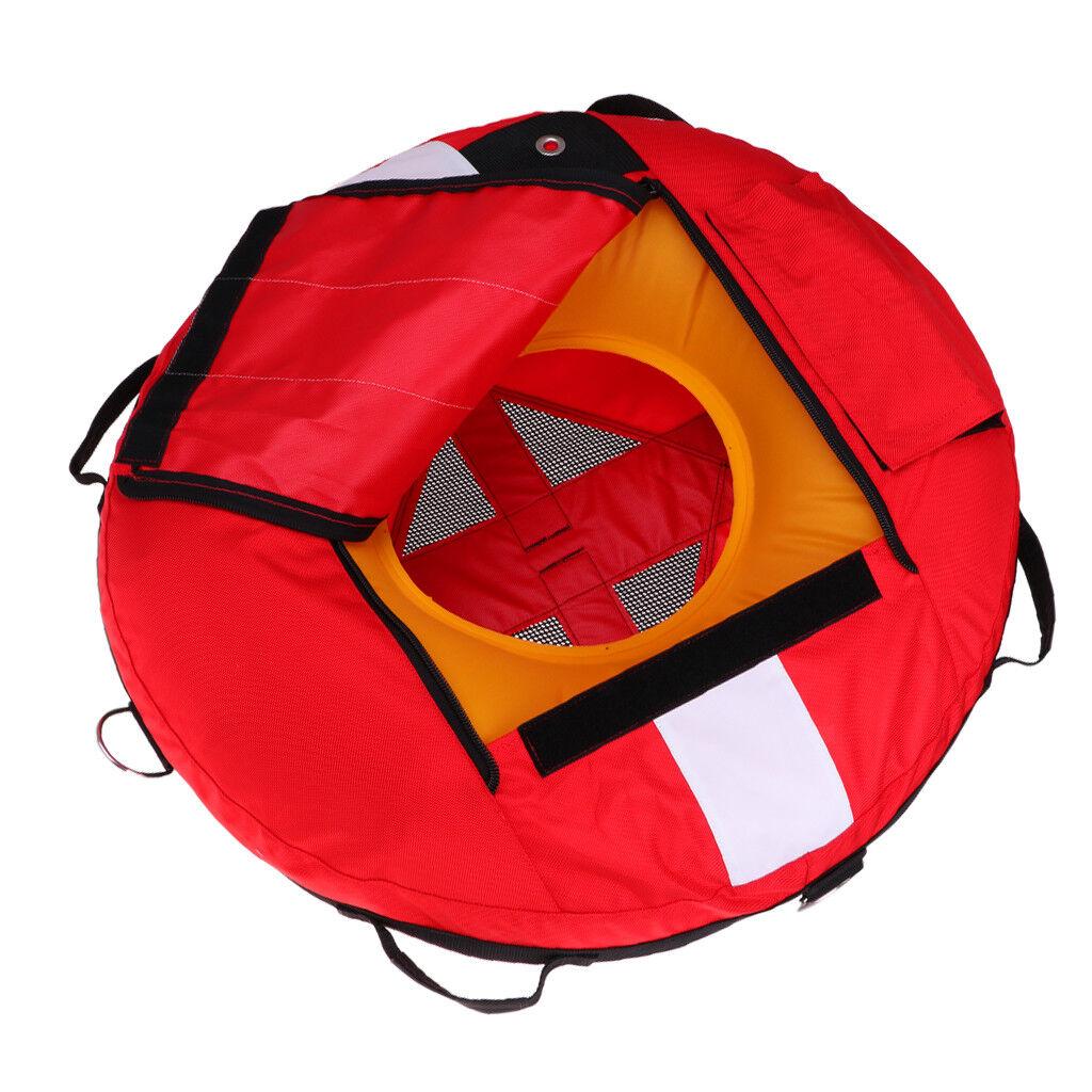Boya Inflable Flotador Flotante rojo Freediving para buceo, pesca submarina