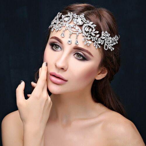 Crystal Tiara Crown Headband Hair Bridal Rhinestone Bride Wedding Pageants Queen