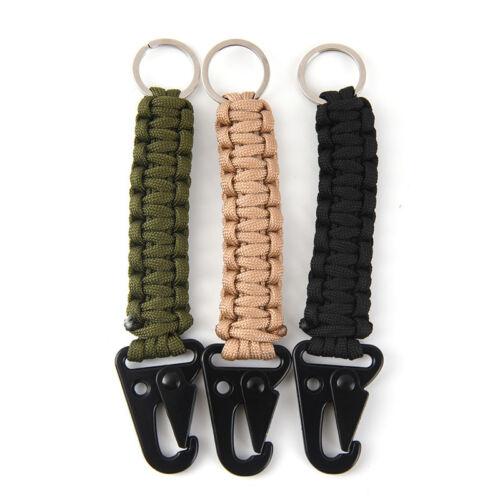 Outdoor Survival Kit Parachute Cord Keychain Paracord Key Chain Bracelets H/_ne