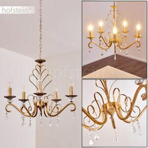 klassischer Kronleuchter Hänge Pendel Lampen Ess Wohn Schlaf Raum Leuchte golden