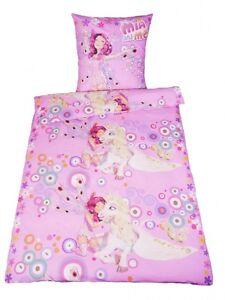 mia and me bettw sche 135x200cm renforce kinder einhorn pink rosa ebay. Black Bedroom Furniture Sets. Home Design Ideas