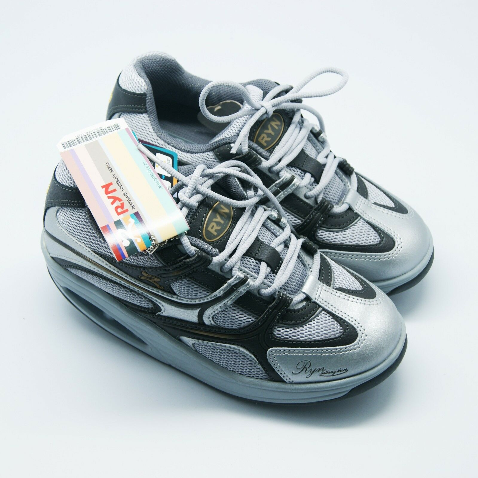 Ryn Womens Massai Walking shoes Sneakers Citrin Silver Silver Silver SIZE 5.5 (For Sale) bb1dfc