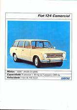 Fiat 124 Comercial Portuguese market colour brochure