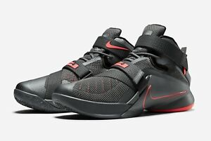 save off 81ec0 a7184 Details about Nike Lebron Soldier 11 XI PRM Dark Grey/Lava Black All New  Mens Basketball 12.5