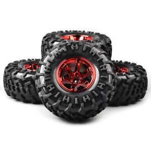 4X-130mm-1-10-Bigfoot-Tires-amp-Wheel-Set-12mm-Hex-For-RC-Monster-Truck-Climbing-Car