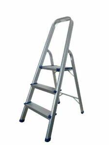 klapptritt alu 3 stufen haushaltsleiter stehleiter sprossenleiter klappleiter ebay